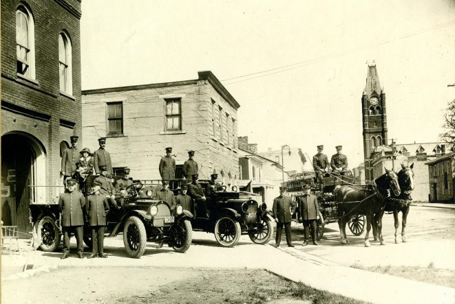 Old photo of the Belleville Fire Department