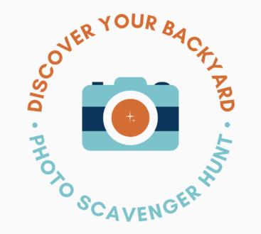 Discover Your Backyard Photo Scavenger Hunt Logo